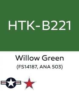 Hataka B221 Willow Green - farba akrylowa 10ml