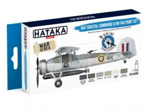 Hataka BS49 zestaw brytyjskie samoloty RAF WW2 farby akrylowe