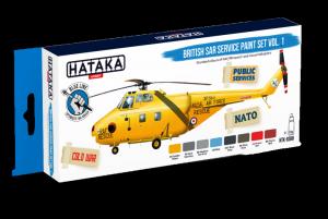 Hataka BS98 zestaw brytyjskie śmigłowce RAF - RN farby akrylowe