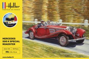 Heller 56710 Zestaw modelarski Mercedes 500 K Special Roadstar model 1-24