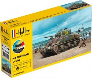 Heller 56892 Czołg M4 Sherman D-Day z farbami i klejem