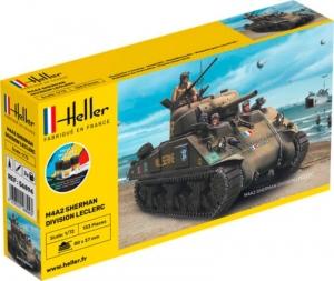 Heller 56894 Czołg M4A2 Sherman Division Leclerc z farbami i klejem
