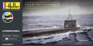 Heller 57075 Zestaw modelarski okręt podwodny Le Redoutable model 1-400