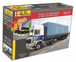 Heller 57703 Ciężarówka Volvo F12-20 Globetrotter z farbami i klejem