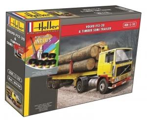 Heller 57704 Ciężarówka Volvo F12-20 Globetrotter z farbami i klejem