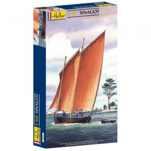 Heller 80605 Rybacka łódź żaglowa Sinagot model 1-60
