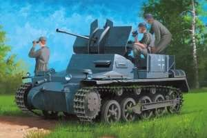 Hobby Boss 80147 German Flakpanzer IA w/Ammo. Trailer