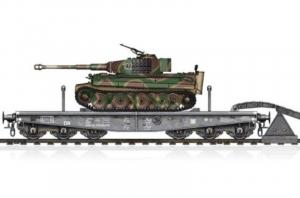 Hobby Boss 82934 Wagon platforma typ SSyms 80 z czołgiem