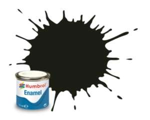 Humbrol 163 Dark Green Satin - emalia 14ml