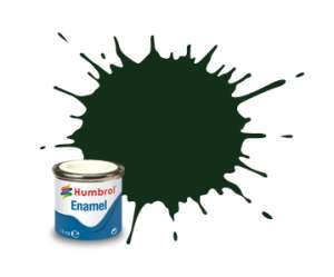 Humbrol 195 Dark Green Satin - emalia 14ml