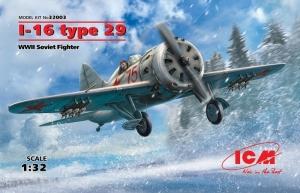 ICM 32003 Samolot Polikarpov I-16 Typ 29 model 1-32