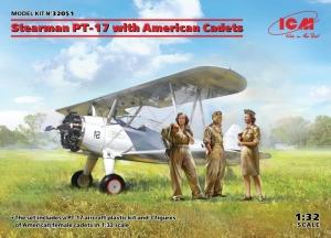 ICM 32051 Samolot Stearman PT-17 z figurkami kadetów