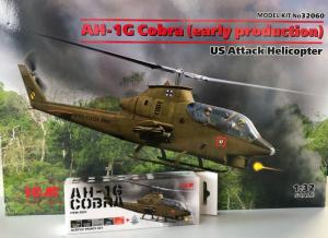 ICM 32060A Śmigłowiec AH-1G Cobra zestaw z farbami 1-32