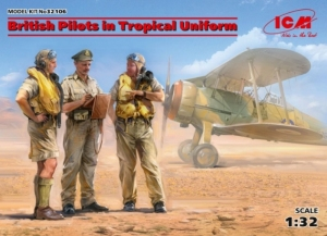 ICM 32106 Brytyjscy piloci w mundurach tropikalnych skala 1-32