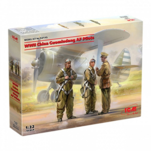 ICM 32115 Chińscy piloci z WWII figurki 1-32