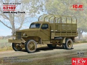 ICM 35593 Ciężarówka wojskowa G7107 model 1-35