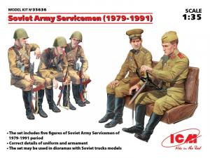 ICM 35636 Figurki radzieccy żołnierze 1979-1991 skala 1-35