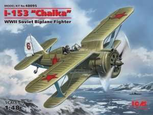 ICM 48095 Polikarpov I-153 Chaika soviet fighter