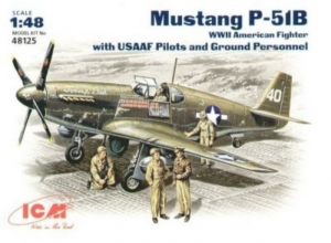ICM 48125 Samolot Mustang P-51B z figurkami model 1-48