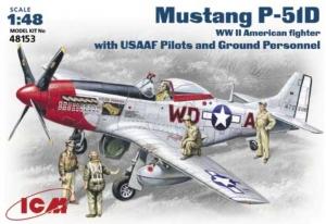 ICM 48153 Samolot Mustang P-51D z figurkami model 1-48
