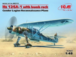 ICM 48213 Samolot Henschel Hs 126A-1 model 1-48