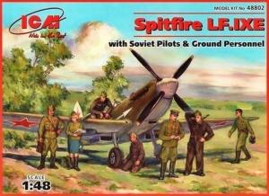 ICM 48802 Samolot Spitfire LF.IXE z figurkami