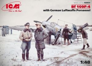 ICM 48804 Samolot Messerschmitt Bf 109F-4 z figurkami Luftwaffe