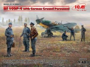 ICM 48805 Samolot Messerschmitt Bf 109F-4 z figurkami personelu naziemnego