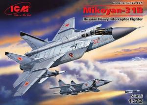 ICM 72151 Samolot Mikoyan-31B model 1-72