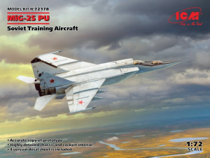 ICM 72178 Samolot MiG-25 PU model 1-72
