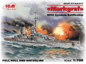 ICM S017 Niemiecki pancernik Markgraf model 1-700