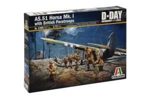 Italeri 1356 AS.51 Horsa Mk. I with British Paratroops