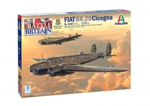 Italeri 1447 Samolot Fiat BR-20 Cicogna Bitwa o Anglię