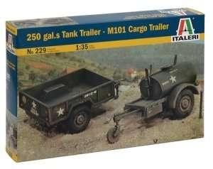 Italeri 229 250 Gal.s Tank trailer - M101 Cargo trailer