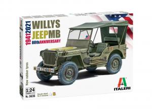 Italeri 3635 Samochód Jeep Willys MB model 1-24
