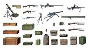 Italeri 407 Accessories and guns