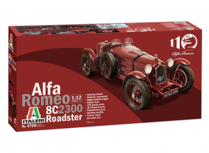 Italeri 4708 Samochód Alfa Romeo 8C 2300 Roadster model 1-12