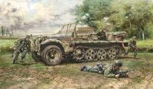 Italeri 6561 Sd.Kfz. 10 Demag D7 z niemieckimi spadochroniarzami