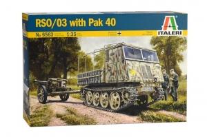 Italeri 6563 Ciągnik RSO/03 z działem PaK 40