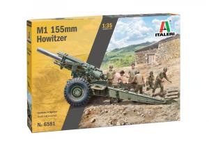 Italeri 6581 Haubica M1 155mm z załogą model 1-35