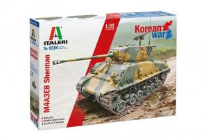 Italeri 6586 Czołg M4A3E8 Sherman wojna w Korei model 1-35
