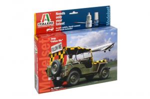 Italeri 70390 Zestaw modelarski Jeep Follow Me z farbami