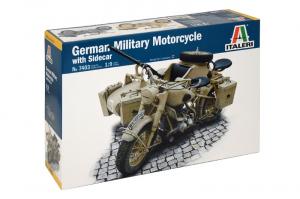 Italeri 7403 Motocykl BMW z wózkiem bocznym model 1-9