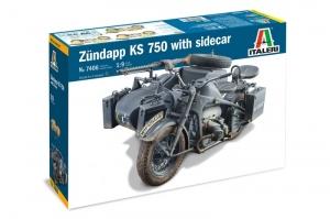 Italeri 7406 Motocykl Zundapp KS 750 z wózkiem bocznym