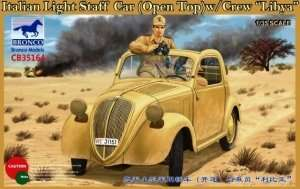 Italian Light Staff Car - open top with crew - Libya