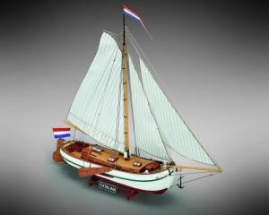Jacht Catalina Mamoli MV51 drewniany model statku 1-35