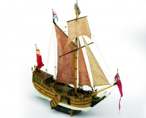 Jacht Mary Mamoli MV28 drewniany model statku 1-54