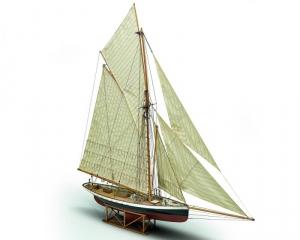 Jacht Puritan Mamoli MV43 drewniany model okrętu w skali 1-50