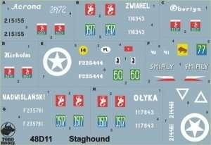 Kalkomania - Staghound w PSZ cz.1  skala 1-48