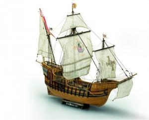 Karawela Santa Maria Mamoli MV42 drewniany model 1-50